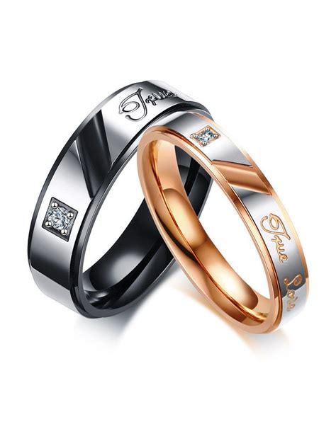 Anillos para parejas de acero inoxidable  True Love