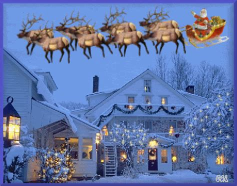 animated Christmas Sleigh rides | Santa Santas Sleigh ...