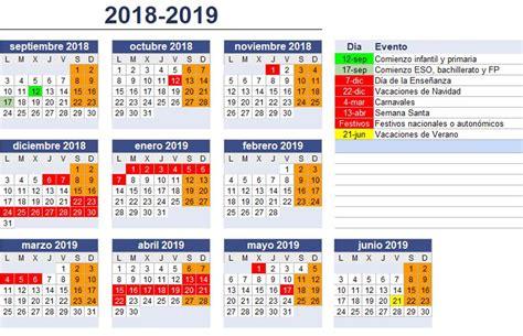ANPA CAMPOLONGO: Calendario curso 2018-2019