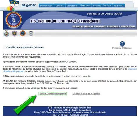 Antecedentes Criminais PE | atestado e certidão, como ...