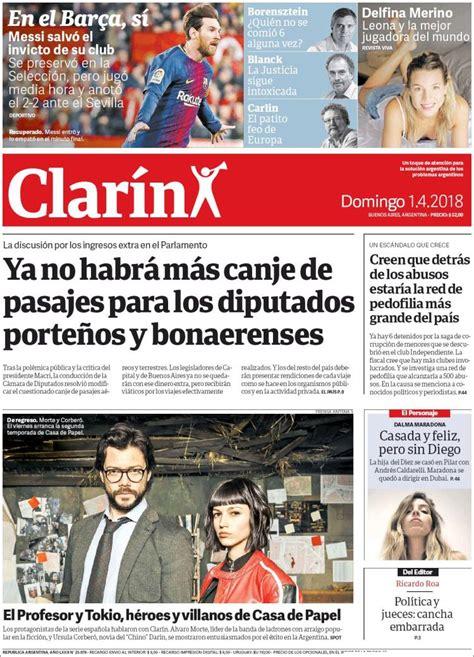 ANTENA 3 TV |  La casa de papel  en la portada de Clarín ...