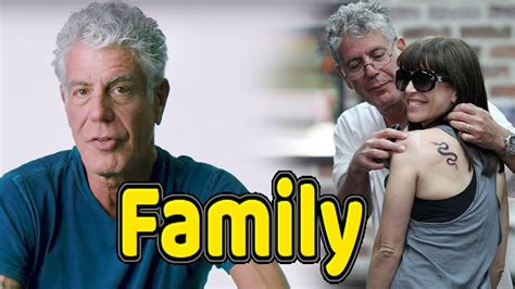 Anthony Bourdain Family Photos With Daughter and Wife ...