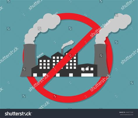 Anti Pollution Concept Stock Vector 244571542   Shutterstock