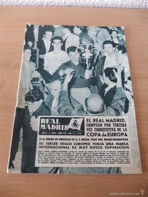 antigua revista real madrid *numero 95 año 1958 - Comprar ...