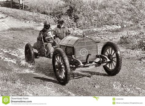 Antique Car Racing On Old Dirt Road Stock Photo   Image ...