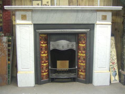 Antique Victorian Carrara & Sienna Marble Fireplace ...
