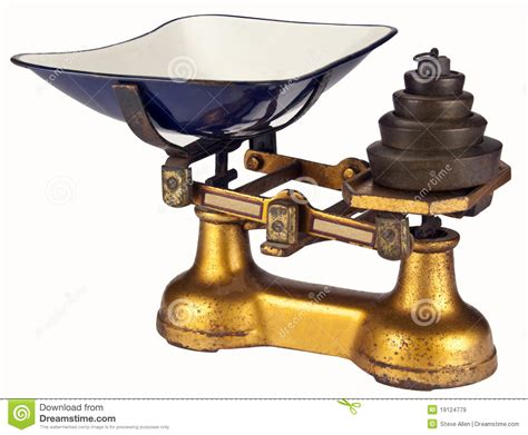 Antique Weighing Scales   Isolated Stock Image   Image ...