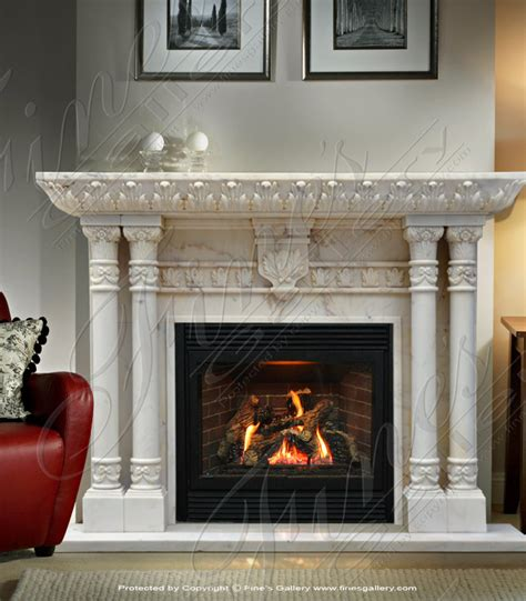 Antique White Marble Fireplace | eBay