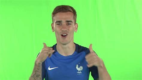 Antoine Griezmann goal celebration in Euro 2016 France