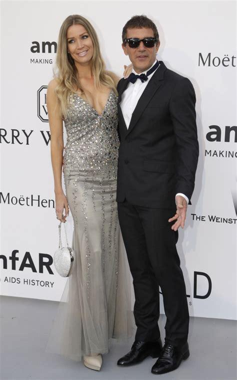 Antonio Banderas, junto a su novia en la gala amfAR
