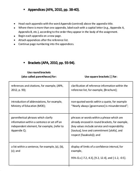 Apa Appendix Format | Template Business