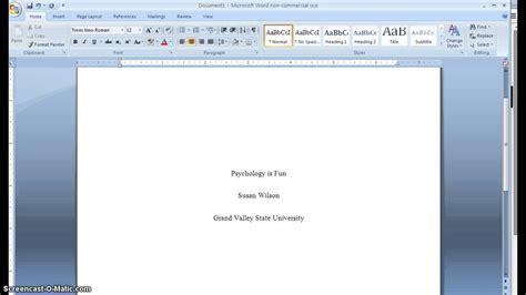 APA Cover Page Formatting_GVSU - YouTube