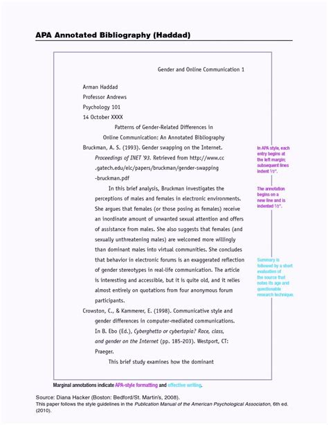 Apa Essay Format Template Word 6th Edition Word