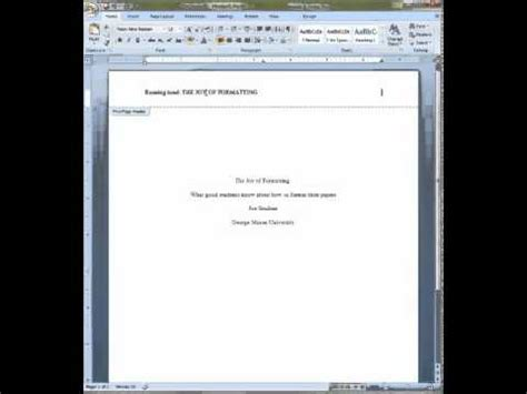 APA Format for Cover Pages and Abstracts - YouTube