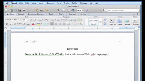 APA Format in Word for Mac - YouTube