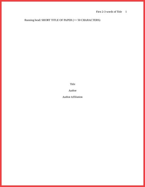 apa format title page 2016 | memo example