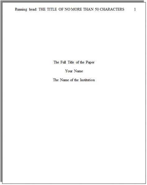 apa format title page running head - Olala.propx.co