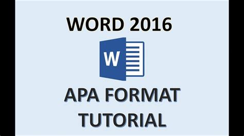 APA Format   Word 2016   How To Set Up a Paper in APA ...
