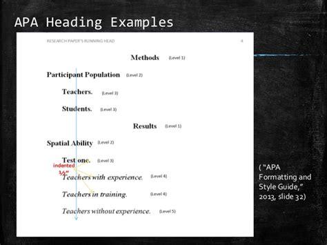 APA Formatting Header Basics
