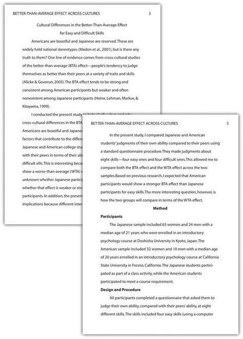 APA Paper Format – Pasadena City College
