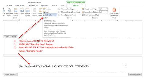 APA Running Header - MS Word 2013 - APA Style Guide ...