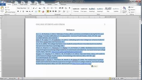APA Style Reference Page - YouTube