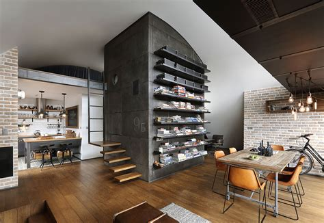 Apartment. Awesome Industrial Loft Apartment ideas ...