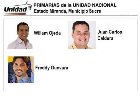 Apertura Venezuela: Primarias 12F, Miranda, Municipio Sucre