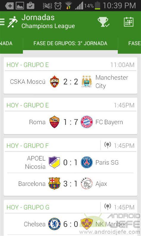 Aplicaciones para conocer resultados de fútbol