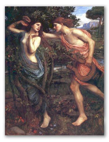 Apolo y Dafne  de J. W. Waterhouse, obra al óleo.