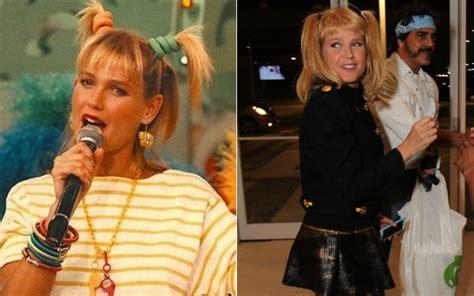 Após críticas ao novo visual, Xuxa usa look dos anos 80 em ...