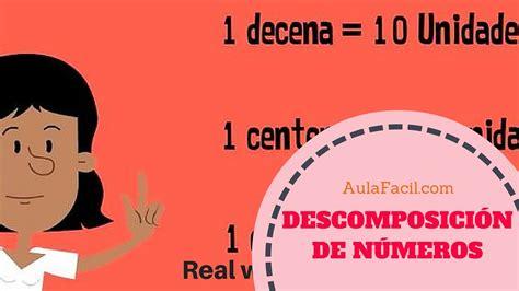 Aprendamos a descomponer números/Unidades, Decenas y ...