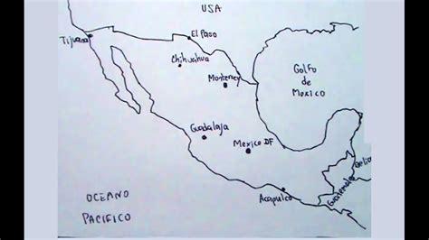 Aprende a dibujar el mapa de México con las ciudad ...