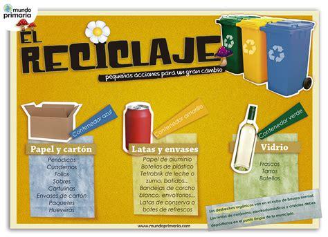 Aprender a reciclar y separar por colores   Mundo Primaria