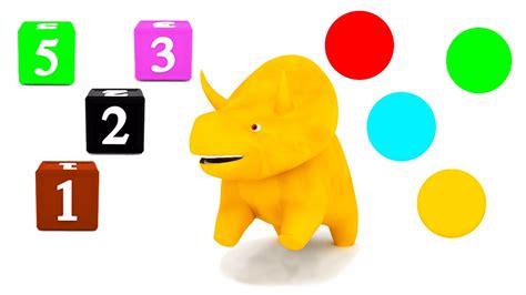 Aprender las cifras y los colores con Dino el Dinosaurio ...