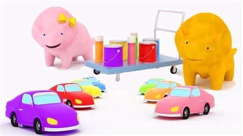 Aprender los colores Pintando Autos con Dina y Dino los ...