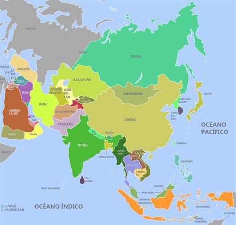 Aprender los países de Asia