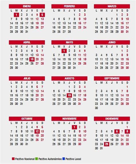 Aprobado el Calendario Laboral 2019 en Andalucía: los ...