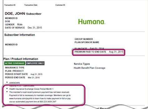 APTC Grace Period and Premium Payment Details   Humana