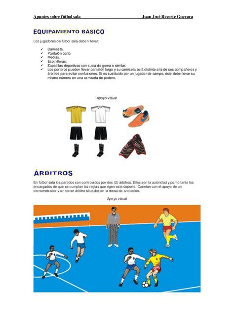 Apuntes de futbol sala