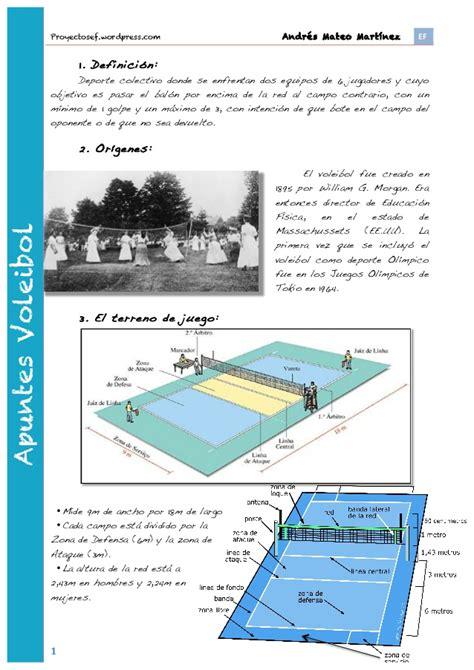 Apuntes voleibol 1º bachillerato