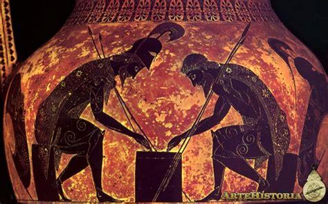 Aquiles y Ayax jugando a los dados | artehistoria.com