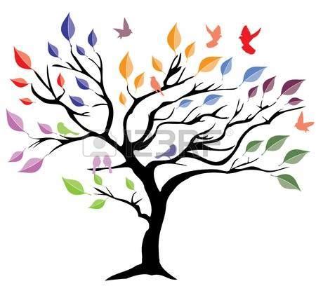 arbol de la vida: ilustración vectorial de un árbol con ...