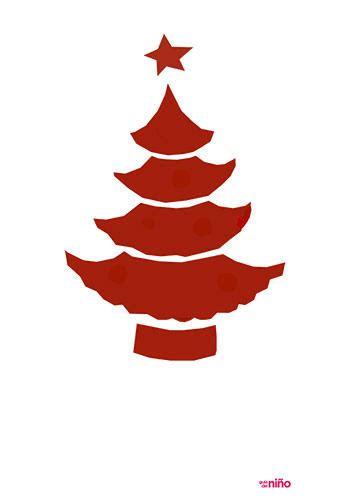 Árbol de Navidad en rojo   Motivos navideños para imprimir ...