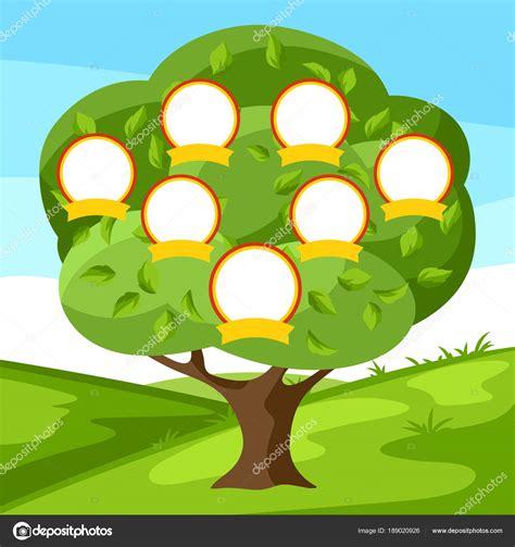 Árbol genealógico familia con retratos de familiares ...