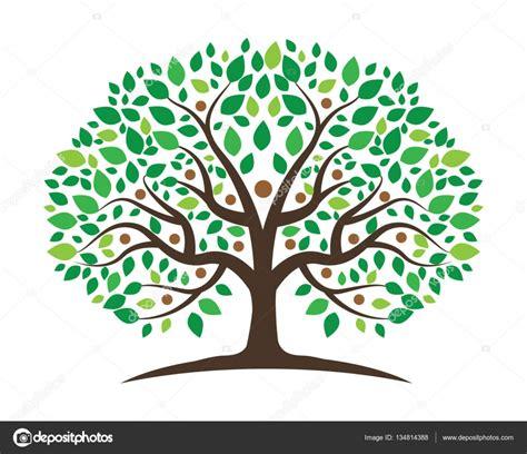 Árbol genealógico plantilla de diseño de logo — Vector de ...