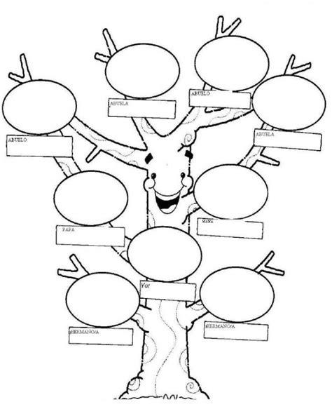 Arbol genealógico – Dibujos para pintar y rellenar ...
