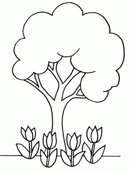 Arboles de primavera para colorear - Imagui