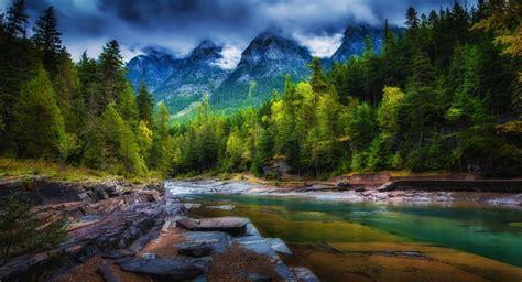Árboles paisaje bosque montañas lago naturaleza reflexión ...