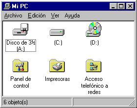 Archivos y Carpetas: Vistas - Mi PC
